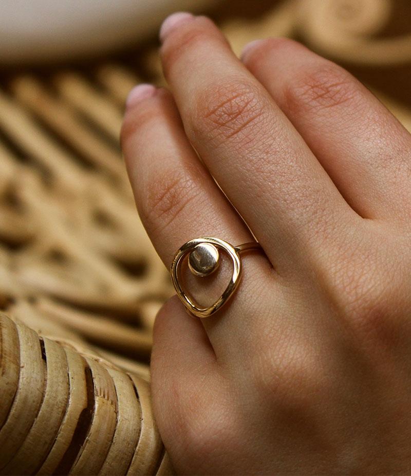 Bague anneau jeton cerclé