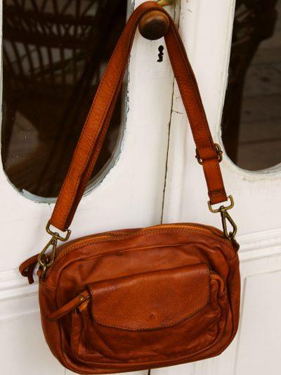Besace vintage cuir lisse