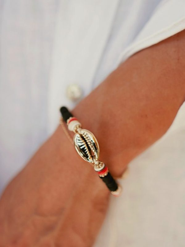 Bracelet surfer et coquillage