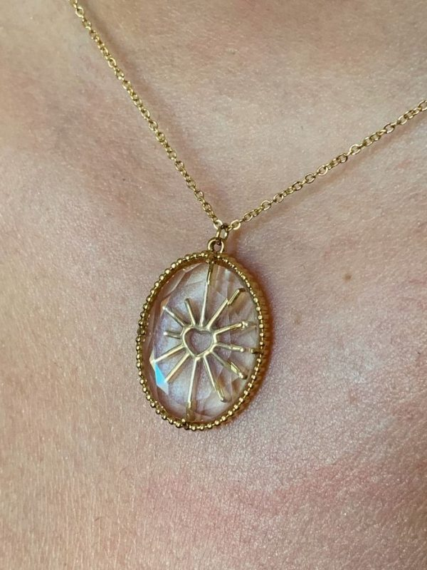Collier transparence ovale