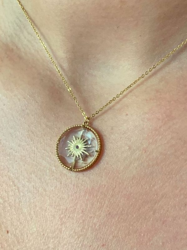 Collier transparence ronde