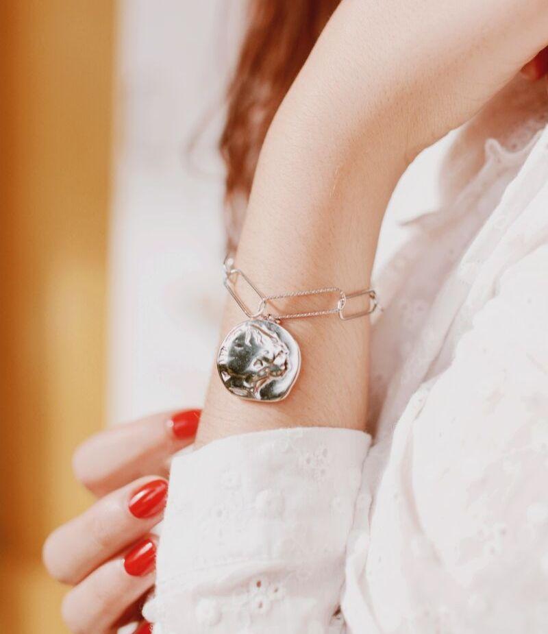 Bracelet Alexa maille trombonne
