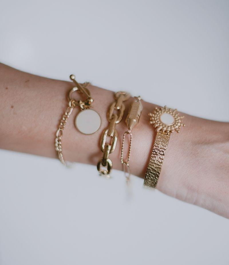 Bracelet jonc acier inoxydable femme