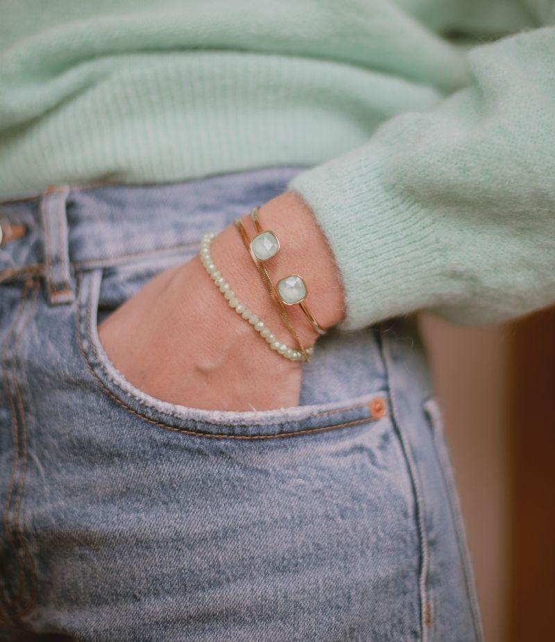 Bracelet coloré avec cristaux blanc