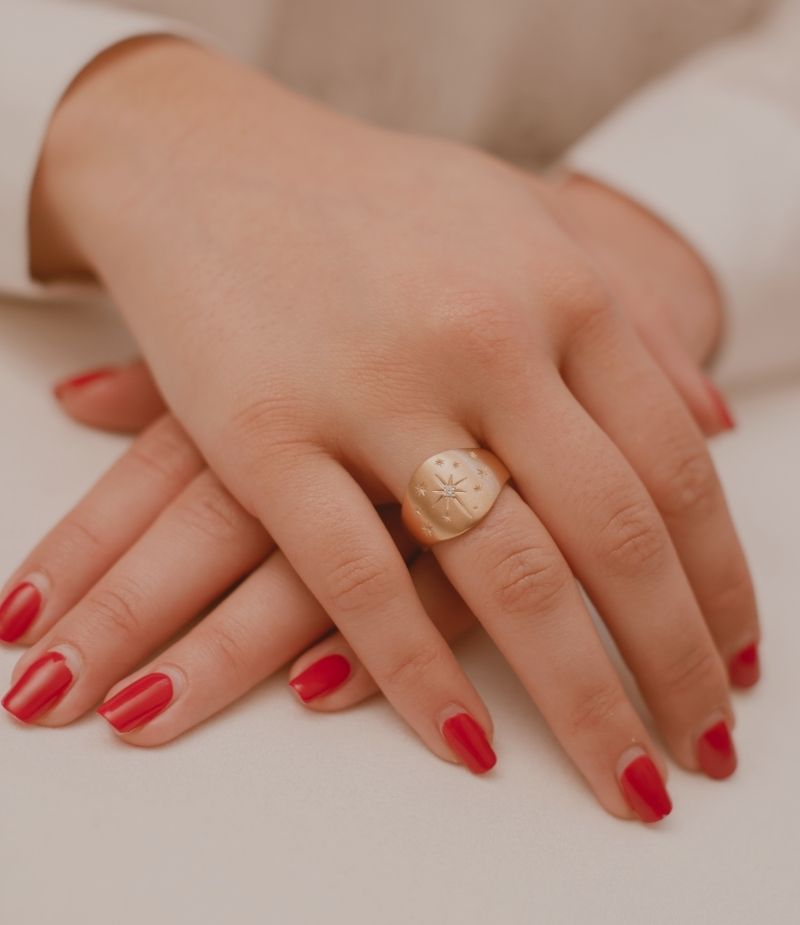 Bague avec des cristaux / Bijoux en plaqué or 18 carats pour Femme