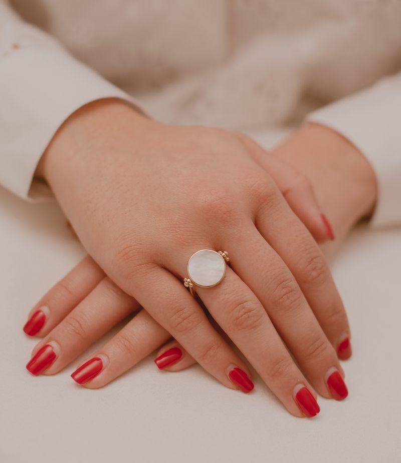Bague Ninon Recto - Verso / Bijoux en plaqué or 18 carats pour femme