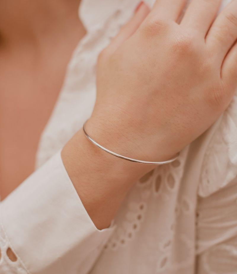 Bracelet jonc femme / Bracelet Argent.