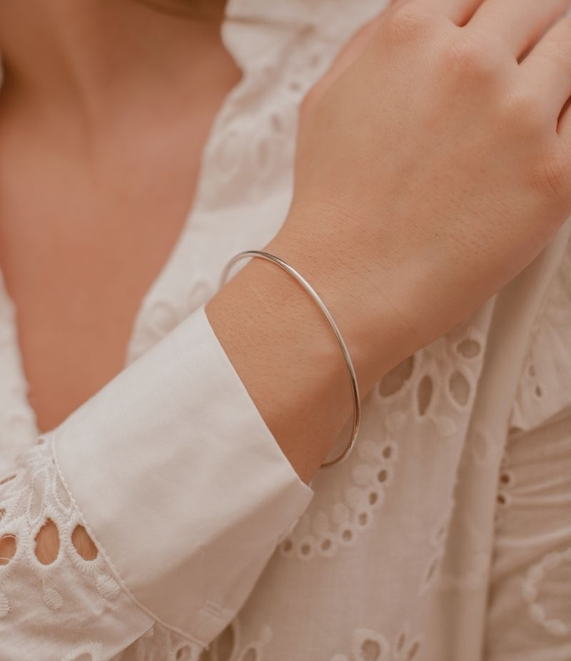 Bracelet jonc femme / Bracelet en Argent massif