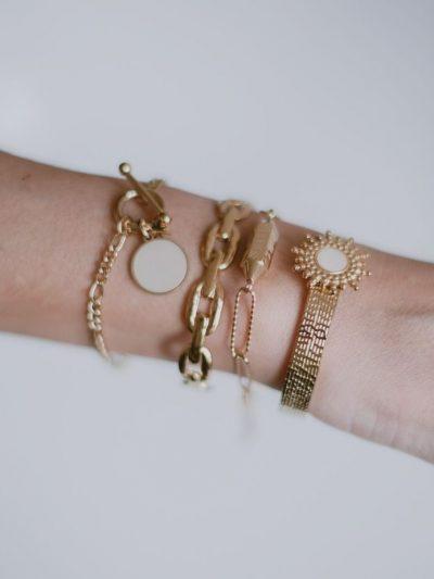 Bracelet nacre en maille large