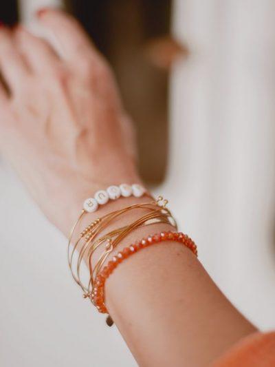 Bracelet semainier acier inoxydable dore 2