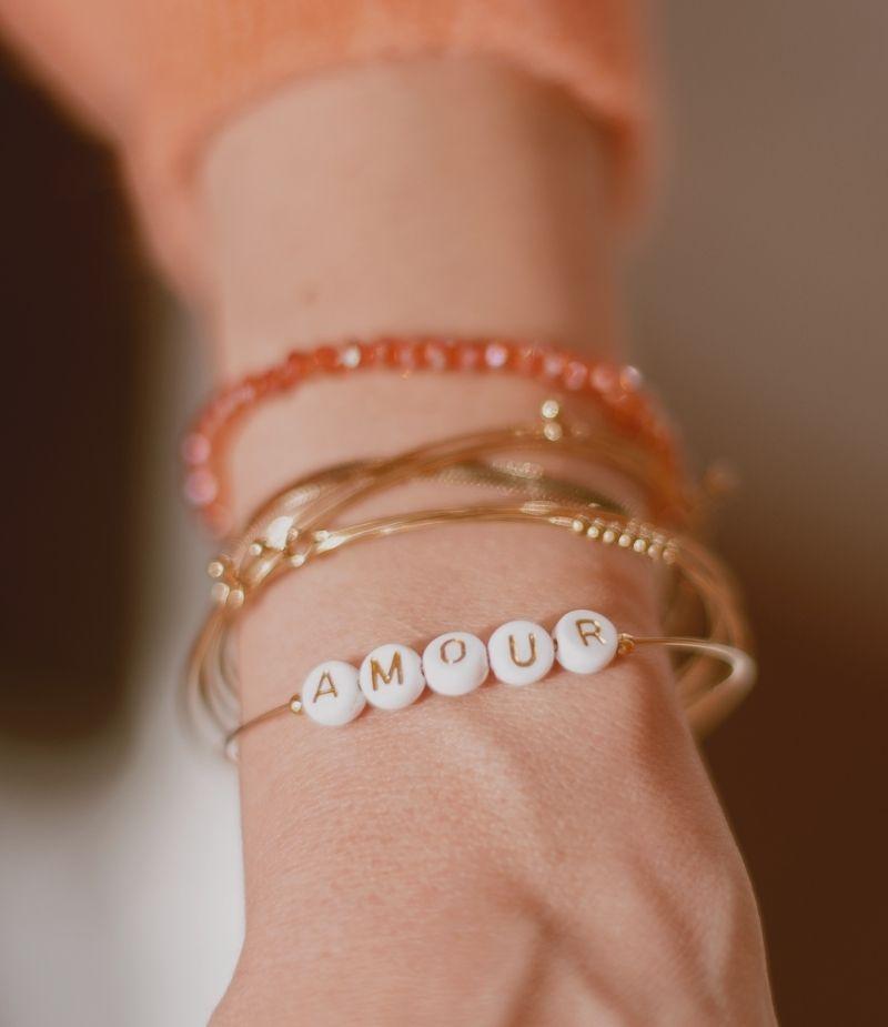 Bracelet semainier acier inoxydable dorée