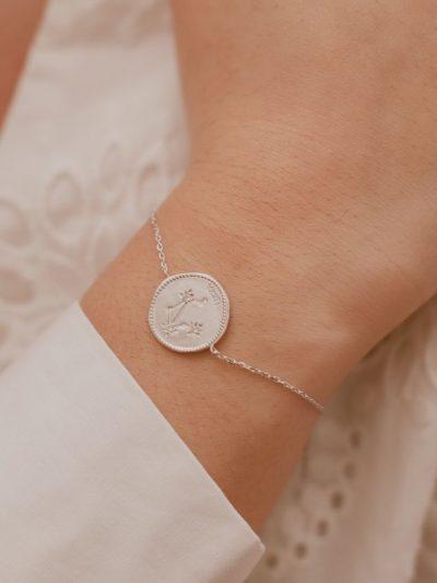 Bracelet signe astrologique - Balance / Bijoux en Argent massif pour femme.