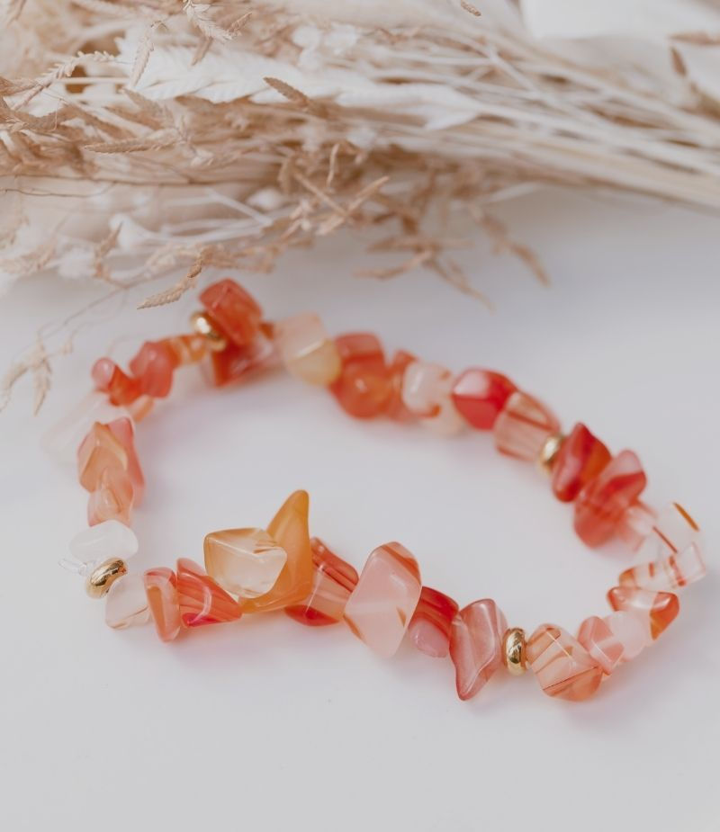 Bracelet Calcédoine Vertus orange