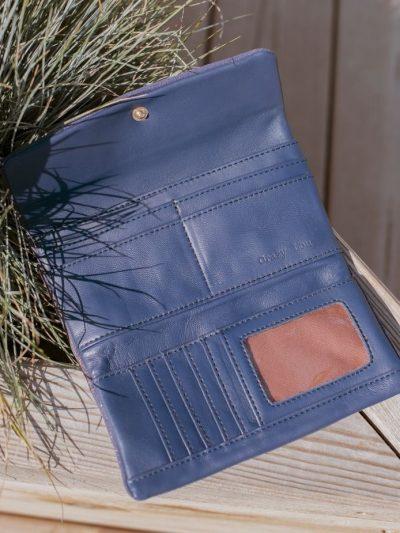 portefeuille femme bleu roi