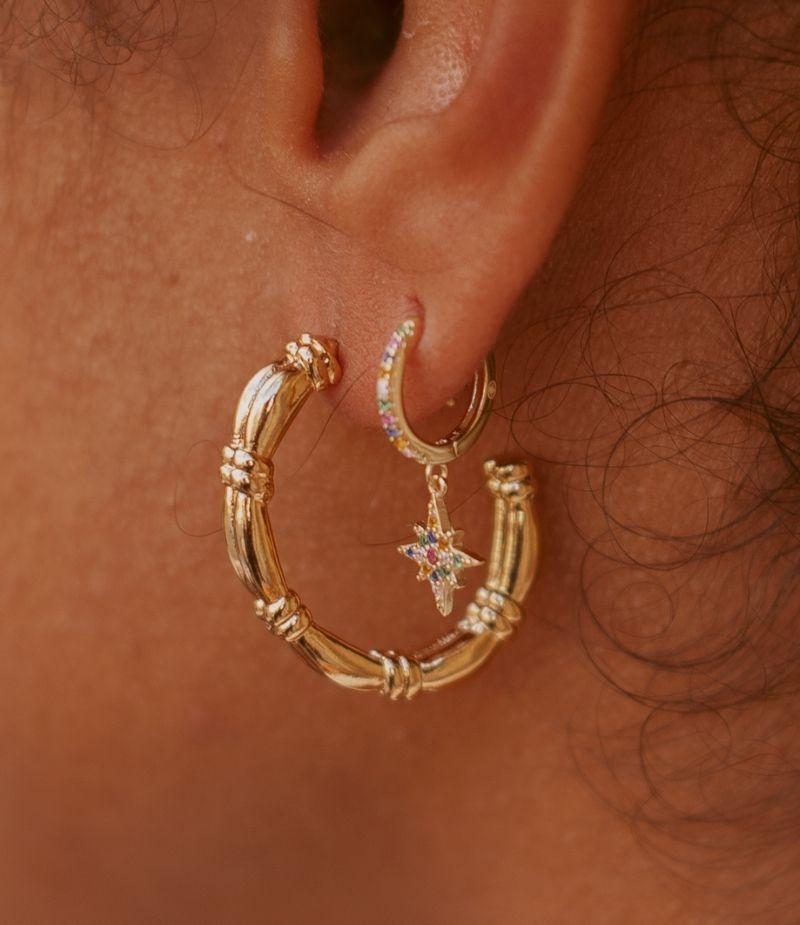 boucles d'oreilles créoles bohème
